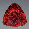 Garnet 6.5 to 7.5 in Mohs hardness trillion cut