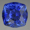 Sapphire, mohs hardness of 9 brilliant cushion cut