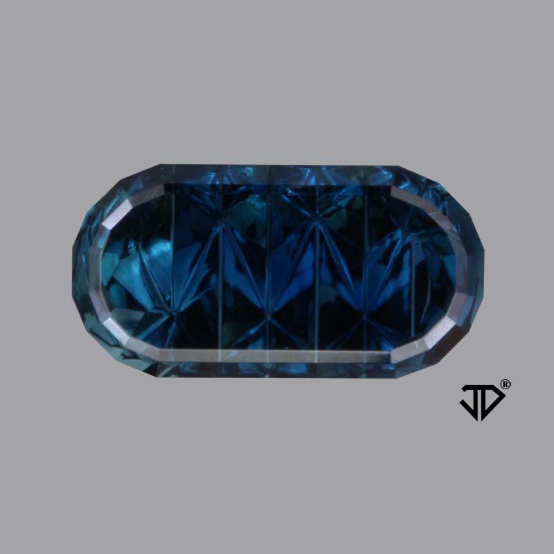 blue Australian sapphire zigzag cut 1.79 cts