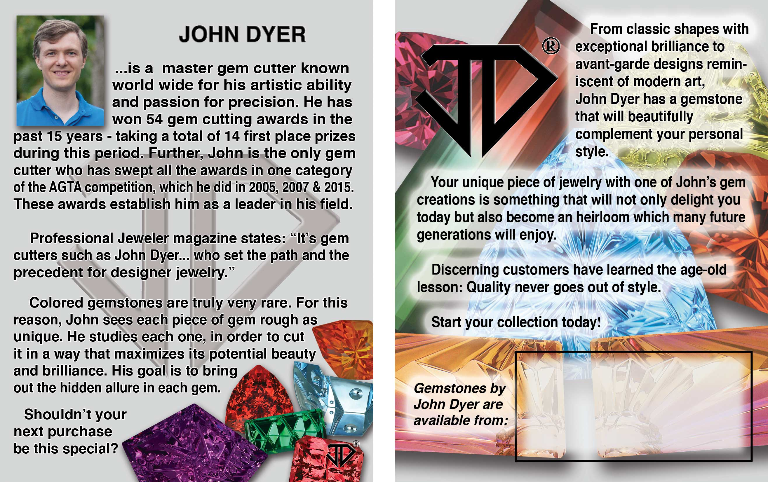 John Dyer bio card information