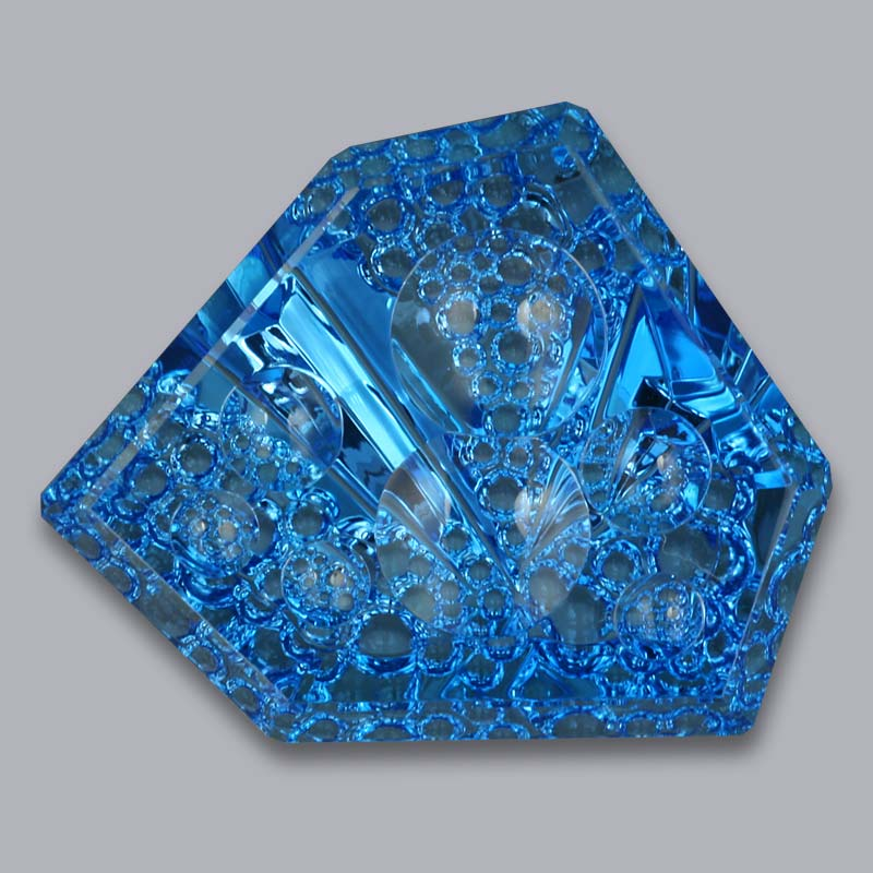 Blue Topaz dreamscape cut 93.53 cts