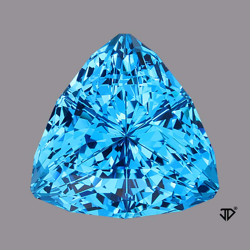 blue toppaz super trillion cut 16.99 cts