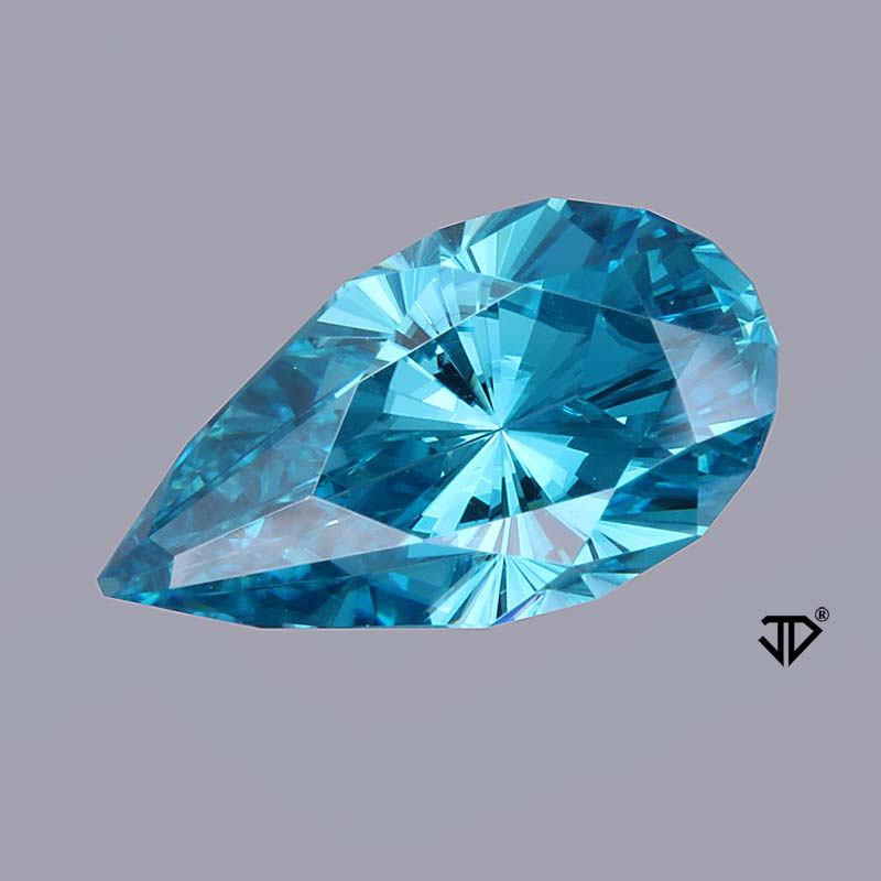 blue zircon regal radiant cut 4.88 cts