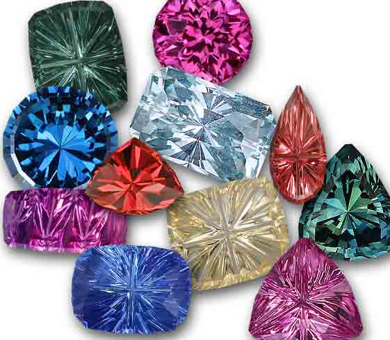 Sapphires of all colors with high quality cuts