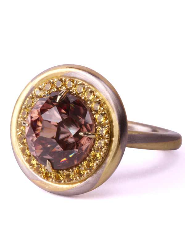 Candy Gold Ring Sherry Zircon