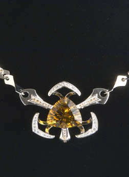 necklace by Tim Meier citrine by John Dyer