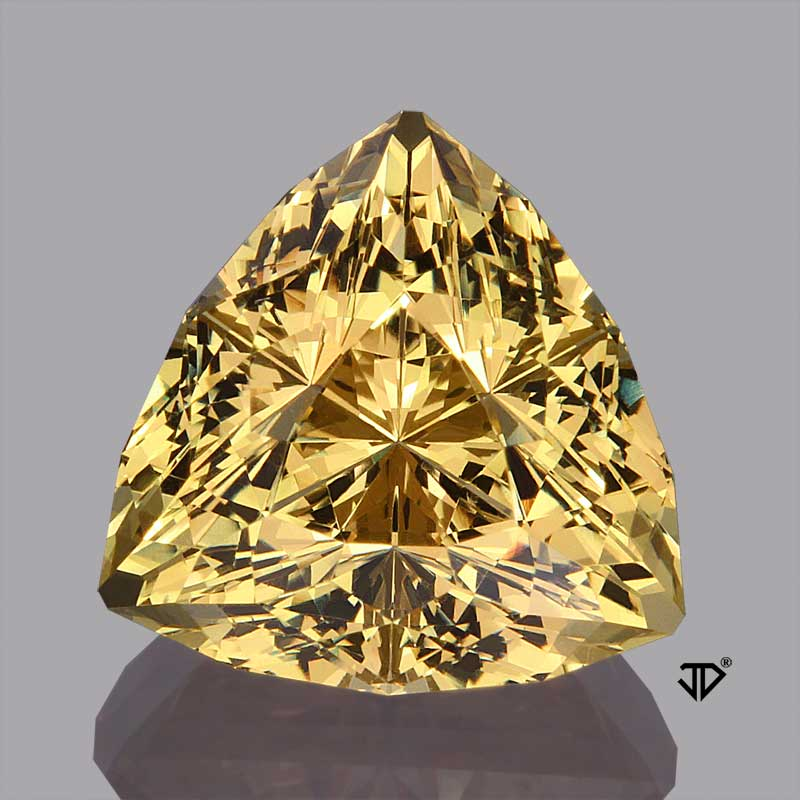 golden beryl super trillion cut 8.14 cts