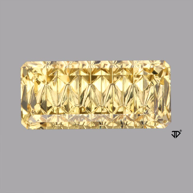 golden beryl zigzag cut 6.14 cts