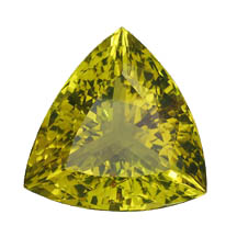 Poorly cut lime citrine