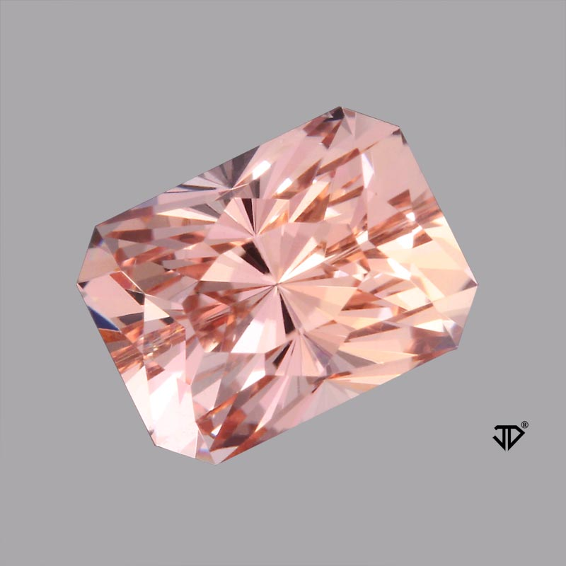 morganite regal radiant cut 3.14 cts