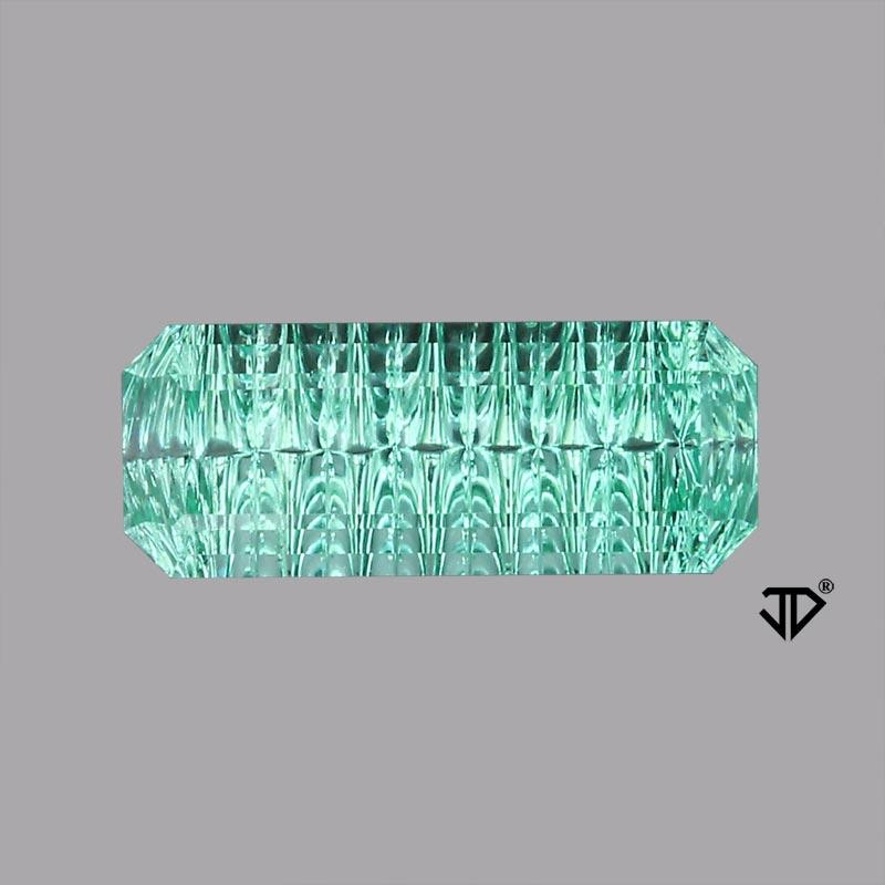 neon tourmaline deep concave cut 1.90 cts