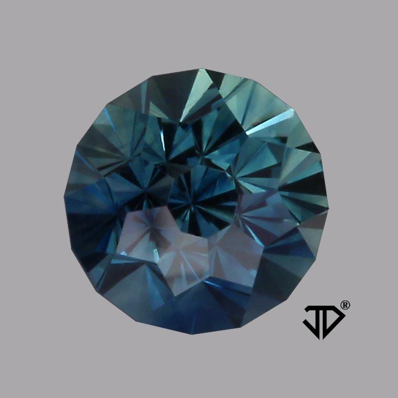 parti color australian sapphire sunburst cut 1.09 cts