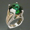 Tourmaline and diamond ring by Brad Weber