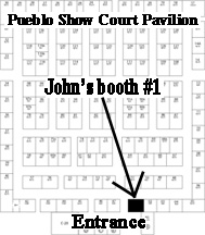 Pueblo  show flooplan with John's booth location