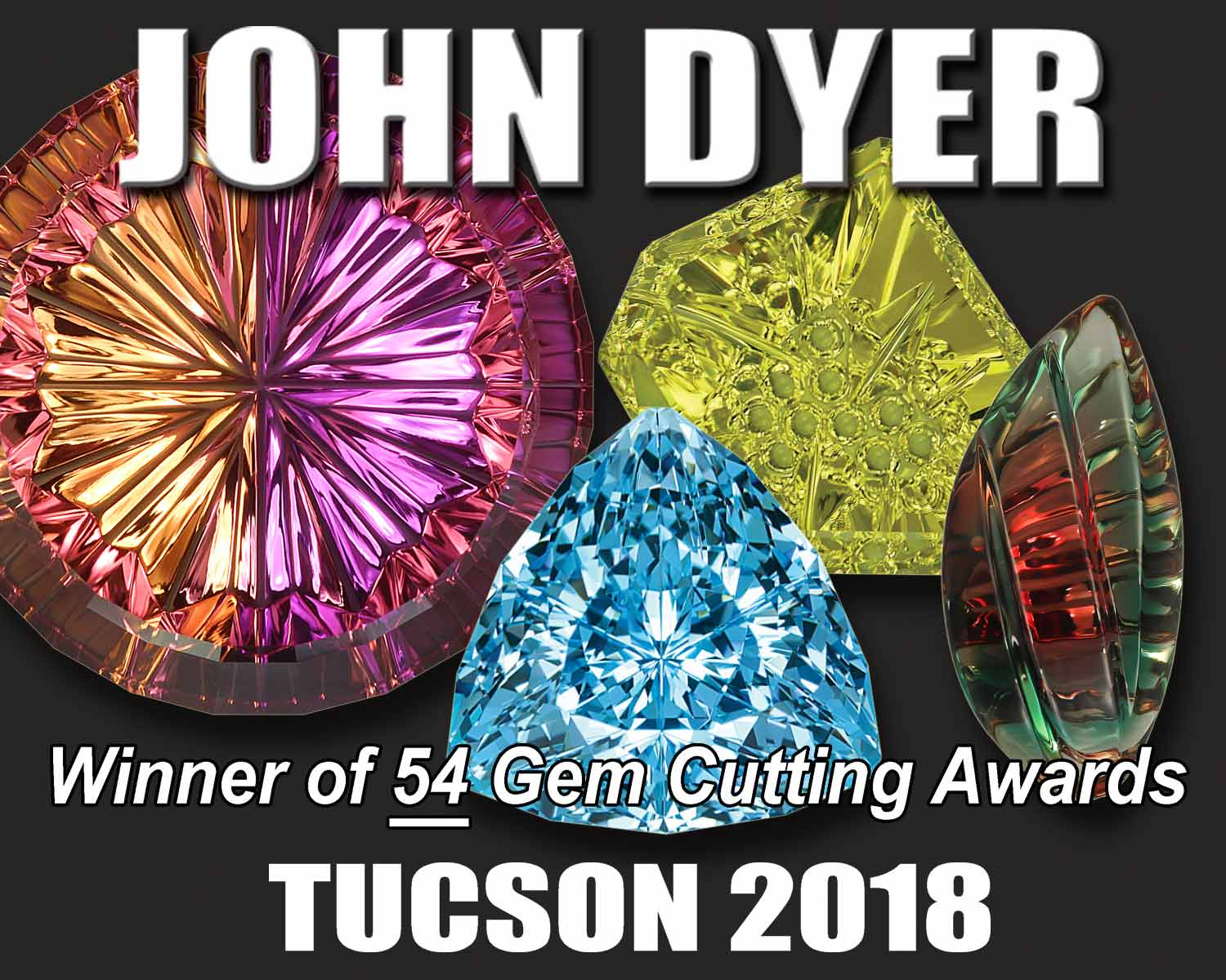 John Dyer's locations at the Tucson Gem Shows