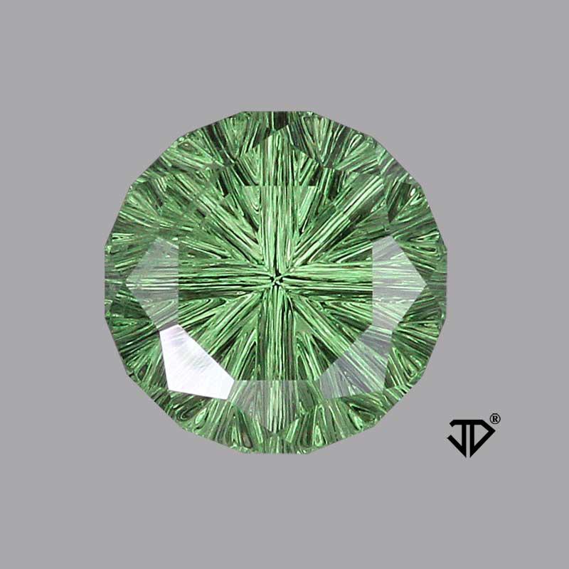 green tsavorite garnet deep concave cut 5.15 cts