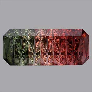 Bicolor Tourmaline gemstone