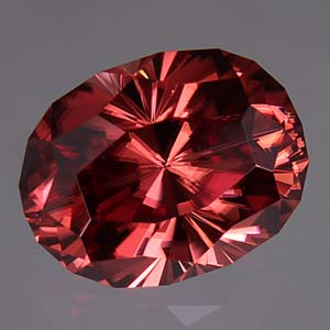 Burgundy Zircon gemstone
