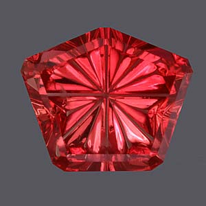 Red Orange Sapphire gemstone